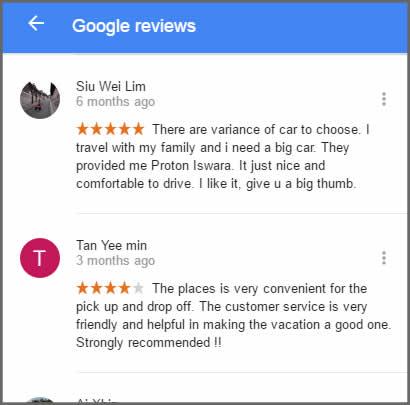 Big Thumb Car Rental Penang Review
